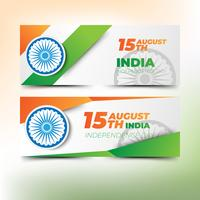 Abstract banners for india independence day