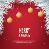 Elegant Christmas background with Realistic Christmas Balls