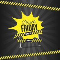 Conception de bannière de vente vendredi noir
