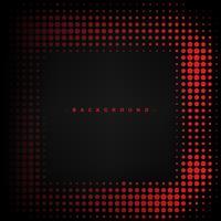 Astratto sfondo rosso e nero con pentagono