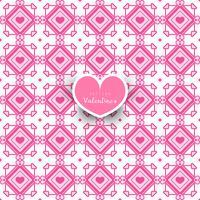 Naadloos geometrisch patroon met decoratieve harten