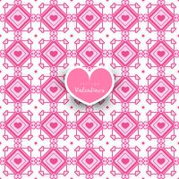 Seamless geometric pattern with hearts decorative