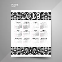 Black And White Pattern Calendar designs