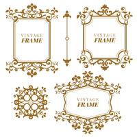 Vintage vector Set. Floral elements for design of monograms, invitations, frames, menus and labels
