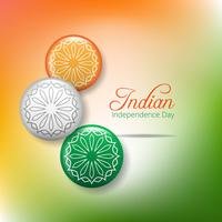 Creative Indian Independence Day koncept med ashoka hjul