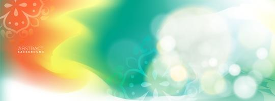 Abstract blur green bokeh background