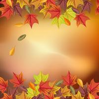 Lovely autumn background with realistic
