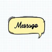 Message word in speech bubble