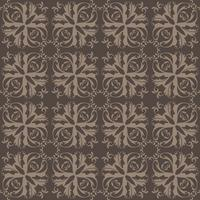 Motivo floreale Wallpaper barocco, damasco. Sfondo vettoriale senza soluzione di continuità. Ornamento grigio