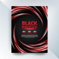 Black friday sales poster with lights