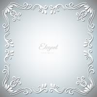Prydnad ram på silver bakgrund