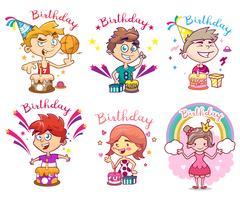 Packung alles Gute zum Geburtstag Design. Abbildung für Kinder