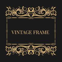 Vintage und dekorativer Rahmen