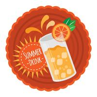 Orange summer drink