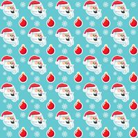 Cute Christmas holidays cartoon seamless pattern