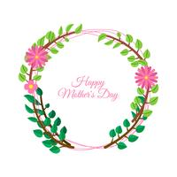 Mother's Day on colorful flowers decorated background