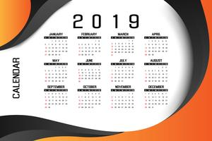 2019 business calendar design concept
