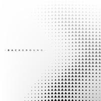 Abstract white and black background with triangle
