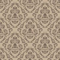 Floral pattern. Wallpaper baroque, damask. Seamless vector background. Purple and white ornament