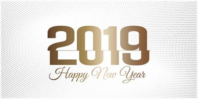 New year 2019 bright halftone background