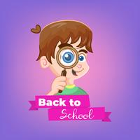 Cartoon boy topic Back to School
