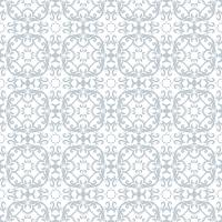 Estampa floral. Papel de parede barroco, damasco. Vetor sem costura de fundo. Ornamento azul e branco