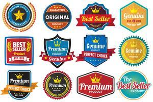 Logo vectoriel rétro vintage pour bannière