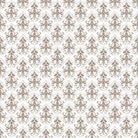 Blomönster. Tapet barock, damast. Seamless vektor bakgrund. Grå och vit prydnad
