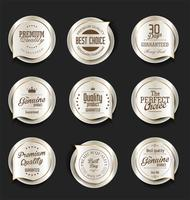 Luxury premium badges and labels