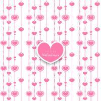 Alla hjärtans dag. sömlöst mönster med hjärta