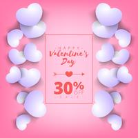 Valentines day super sale background. Pink abstract background with heart