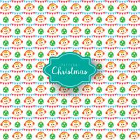Vector christmas pattern boy and pennants
