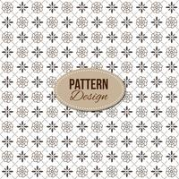 Pattern with ornaments and floral shapes
