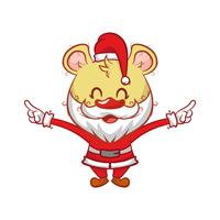 Orso vestito da Babbo Natale