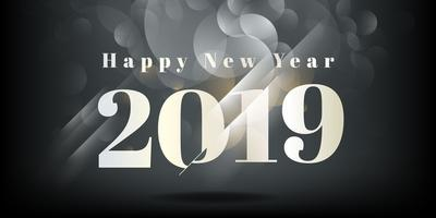 Happy new year 2019 background