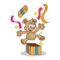 Cartão de Aniversário com Fofo Urso