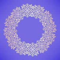 Patrón árabe circular. Adorno barroco redondo