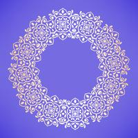 Circulair Arabisch patroon. Rond barok ornament