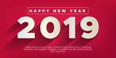 Feliz año nuevo 2019 fondo