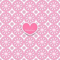 Seamless geometriska mönster med dekorativa hjärtan