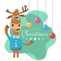 Weihnachtshintergrund mit Ren