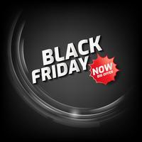 Black Friday Sale Banner mit abstrakten Licht