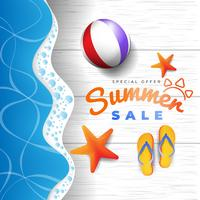 Banner promocional de venda de verão