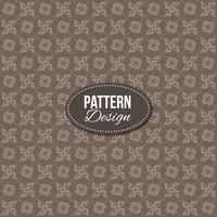 Vintage pattern with ornaments and floral shapes