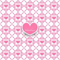 Seamless geometric pattern with hearts decorative