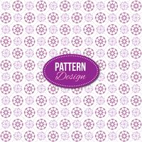 Purple pattern with mandala and floral designs