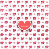 Naadloos patroon met harten