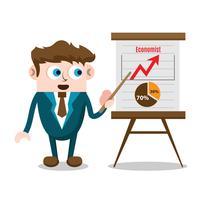 Business man in presentation