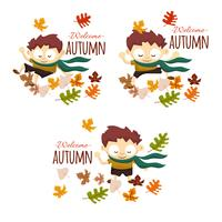 Welcome autumn boy
