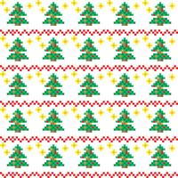 Christmas patterns in pixel art style